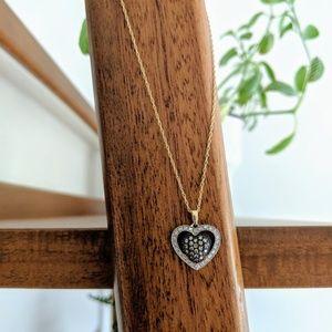 Jewelry - 14k Yellow Gold Diamond Heart Necklace